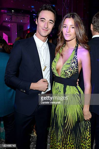 Daniele Cavalli and Malena Costa attend the new Just Cavalli boutique opening party as part of Milan Womenswear Fashion Week on September 21 2012 in...