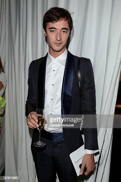 Daniele Cavalli attend the amfAR Milano 2012 Dinner during Milan Fashion Week at La Permanente on September 22 2012 in Milan Italy