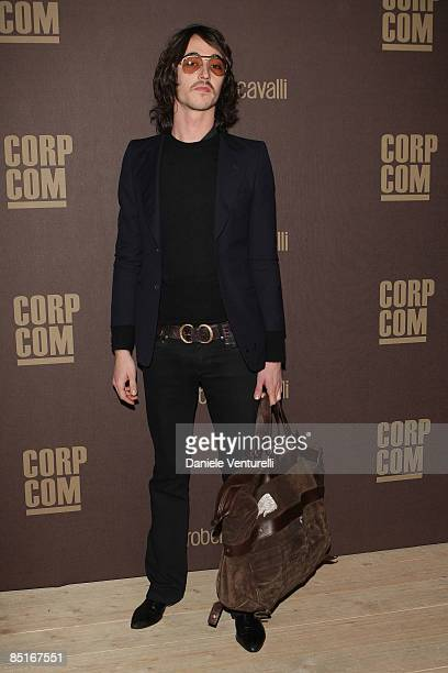Daniele Cavalli attends ''The Cavalli Card Party'' during Milan Fashion Week Womenswear Autumn/Winter 2009 at the Teatro Franco Parenti on March 1...