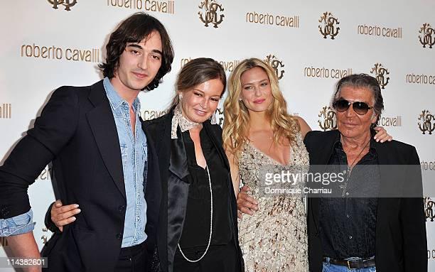 Daniele Cavalli Eva Cavalli model Bar Refaeli and Designer Roberto Cavalli attend the Cavalli Boutique Opening during the 64th Annual Cannes Film...