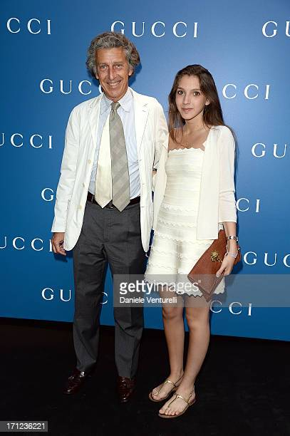 Daniele Cordero di Montezemolo and his daughter attend Gucci Men's Flagship Store Opening and Launch of Gucci Made to Measure Capsule Collection...
