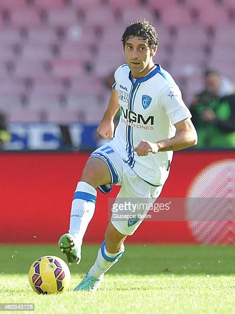 Daniele Croce of Empoli in action during the Serie A match between SSC Napoli and Empoli FC at Stadio San Paolo on December 7 2014 in Naples Italy