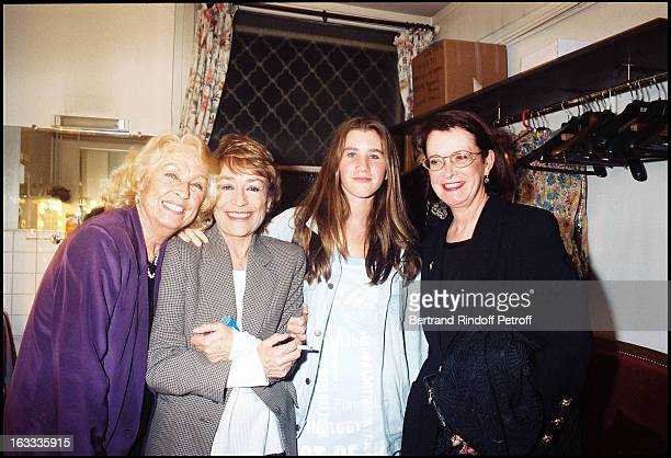 Daniele Darrieux Annie Girardot Lola the granddaughter of Annie Girardot and Dominique Lavanant at theParis Theatre Production Of Le 6Eme Ciel...