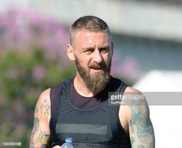 Daniele De Rossi during training session open to the fans of AS Roma preseason retreat at Stadio Tre Fontane on july 19 2018 in Rome Italy