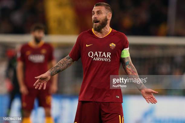 Daniele De Rossi of AS Roma during the UEFA Champions League group G match between AS Roma and PFC CSKA Moscow at Stadio Olimpico on October 23 2018...