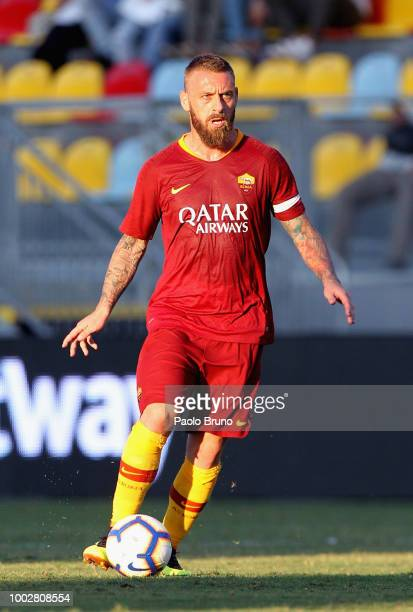 Daniele De Rossi of AS Roma in action during the PreSeason Friendly match between AS Roma and Avellino at Stadio Benito Stirpe on July 20 2018 in...