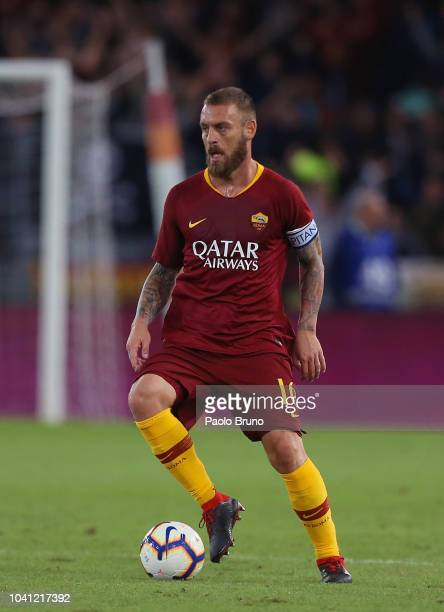 Daniele De Rossi of AS Roma in action during the Serie A match between AS Roma and Frosinone Calcio at Stadio Olimpico on September 26 2018 in Rome...