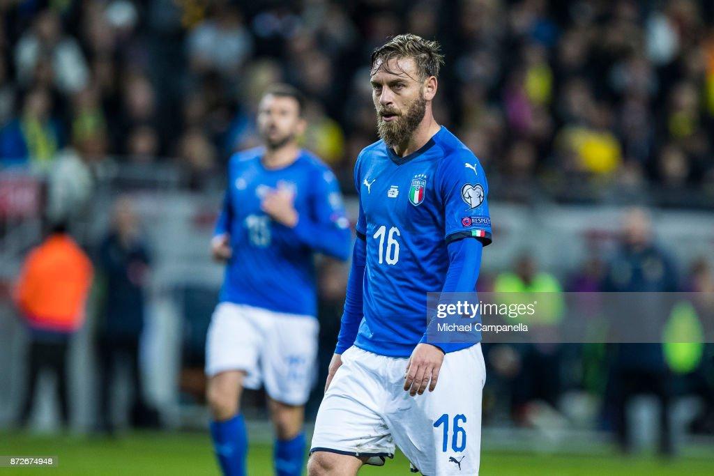 Sweden v Italy - FIFA 2018 World Cup Qualifier Play-Off: First Leg : Foto di attualità