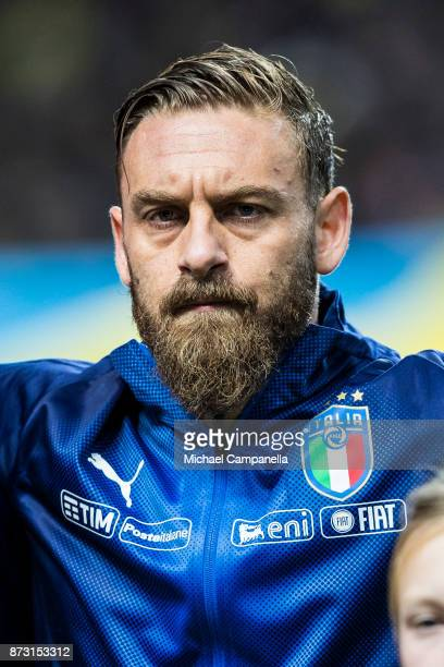 Daniele De Rossi of Italy during the FIFA 2018 World Cup Qualifier PlayOff First Leg between Sweden and Italy at Friends arena on November 10 2017 in...