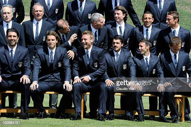 Daniele De Rossi of Italy during the official Fifa World Cup 2010 portrait session on May 26 2010 in Sestriere near Turin Italy