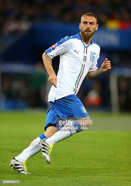 Daniele De Rossi of Italy during the UEFA EURO 2016 Group E match between Belgium and Italy at Stade des Lumieres on June 13 2016 in Lyon France