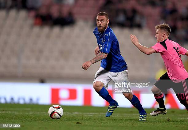 Daniele De Rossi of Italy in action during the international friendly between Italy and Scotland on May 29 2016 in Malta Malta