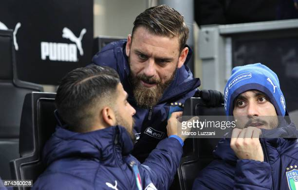 Daniele De Rossi of Italy looks on before the FIFA 2018 World Cup Qualifier PlayOff Second Leg between Italy and Sweden at San Siro Stadium on...