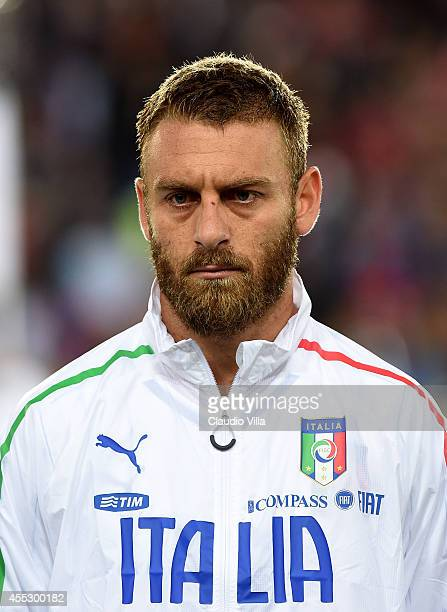 Daniele De Rossi of Italy poses prior to the UEFA EURO 2016 qualifier match between Norway and Italy at Ullevaal Stadion on September 9, 2014 in...