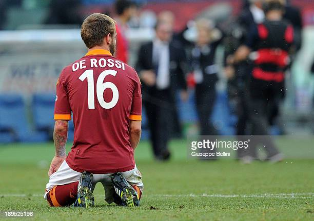 Daniele De Rossi of Roma after the TIM cup final match between AS Roma v SS Lazio at Stadio Olimpico on May 26, 2013 in Rome, Italy.