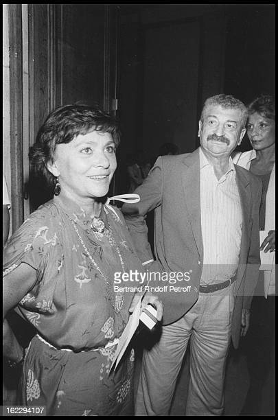 Daniele Delorme and Yves Robert attending a Chanel fashion show in 1983