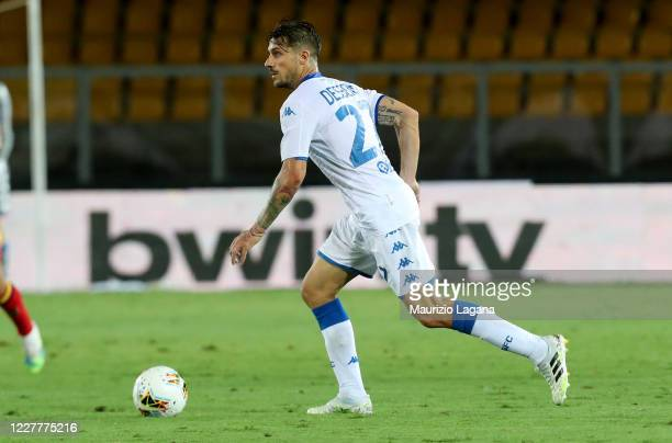 Daniele Dessena of Brescia during the Serie A match between US Lecce and Brescia Calcio at Stadio Via del Mare on July 22, 2020 in Lecce, Italy.