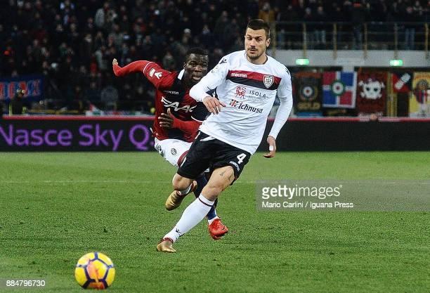 Daniele Dessena of Cagliari Calcio in action during the Serie A match between Bologna FC and Cagliari Calcio at Stadio Renato Dall'Ara on December 3...