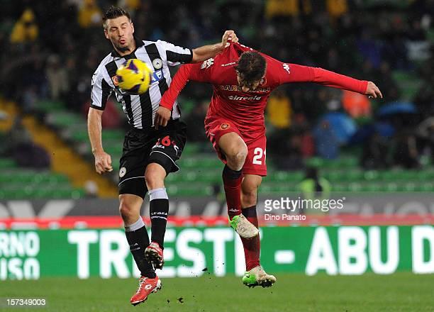 Daniele Dessena of Cagliari scoring his first team goalduring the Serie A match between Udinese Calcio and Cagliari Calcio at Stadio Friuli on...