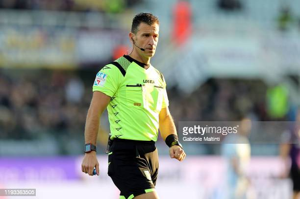 Daniele Doveri referee during the Serie A match between ACF Fiorentina and SPAL at Stadio Artemio Franchi on January 12, 2020 in Florence, Italy.