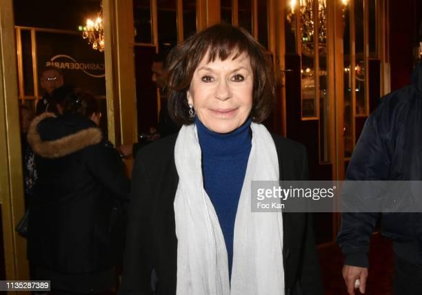 Daniele Evenou attends Daniele Gilbert et Les Idoles de Midi Premiere Photocall at Casino de Paris on March 11 Paris France
