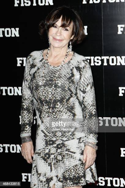 Daniele Evenou attends 'Fiston' Paris Premiere at Le Grand Rex on February 10 2014 in Paris France