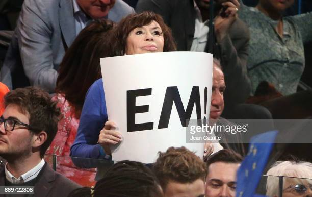 Daniele Evenou attends the campaign rally of French presidential candidate Emmanuel Macron at AccorHotels Arena on April 17 2017 in Paris France