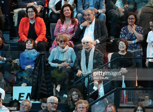 Daniele Evenou Catherine Lara and her partner Samantha Corinne Lepage architect Roland Castro attend the campaign rally of French presidential...