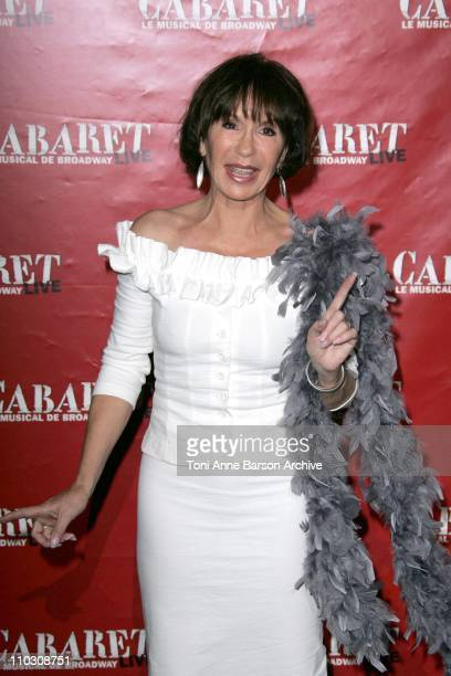 """Daniele Evenou during """"Cabaret,"""" Le Musical de Broadway Live Premiere - Arrivals at Les Folies Bergeres in Paris, France."""