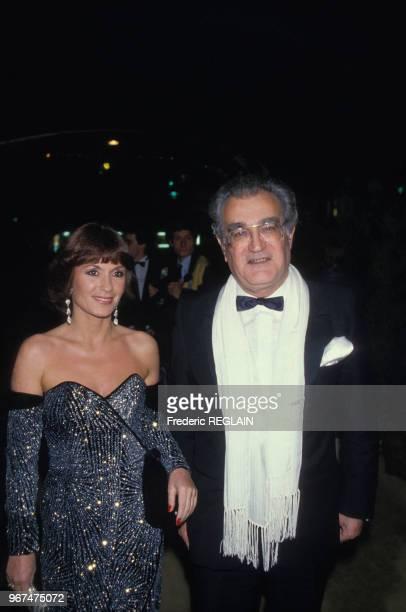 Daniele Evenou et Georges Fillioud à la soirée de remise des 7 d'Or le 21 octobre 1985, Paris, France.