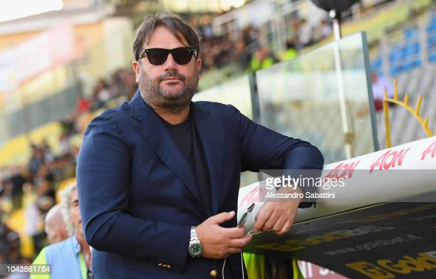 Daniele Faggiano general director of Parma Calcio looks on during the Serie A match between Parma Calcio and Empoli at Stadio Ennio Tardini on...