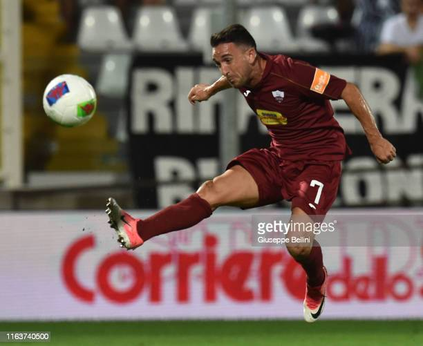 Daniele Ferretti of Trapani Calcio scores goal 1-1 during the Serie B match between Ascoli Calcio and Trapani Calcio at Stadio Cino e Lillo Del Duca...