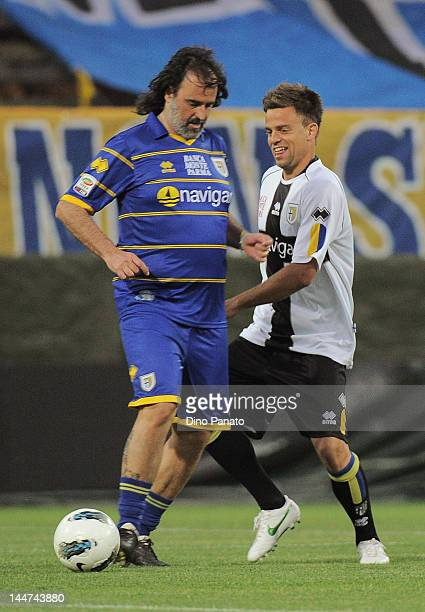 Daniele Galloppa Marco Osio of Parma during a charity match between Parma FC and Old Glories at Stadio Ennio Tardini on May 18 2012 in Parma Italy