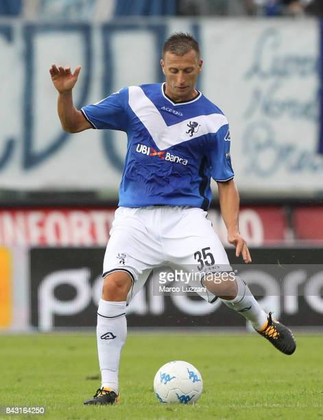 Daniele Gastaldello of Brescia Calcio in action during the Serie B between Brescia Calcio and US Citta di Palermo at Stadio Mario Rigamonti on...