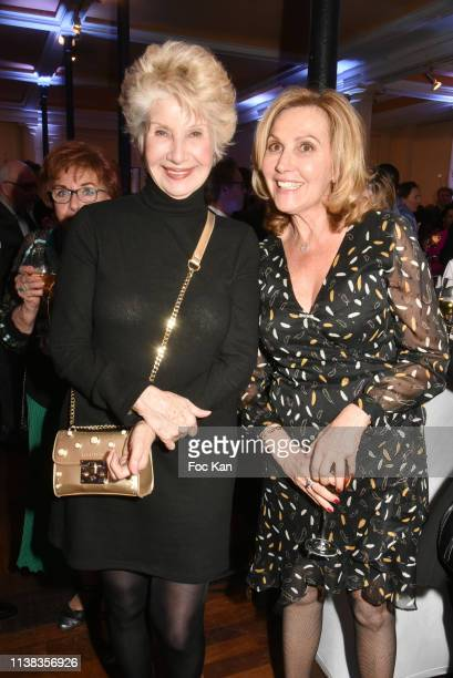 Daniele Gilbert and Fabienne Amiach attend Enfance Majuscule Auction Concert Cocktail at Salle Gaveau on March 25 2019 in Paris France