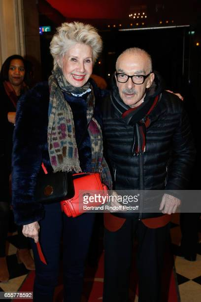 Daniele Gilbert and her husband Patrick Semama attend the Enfance Majuscule 2017 Charity Gala for the benefit of abused childhood Held at Salle...