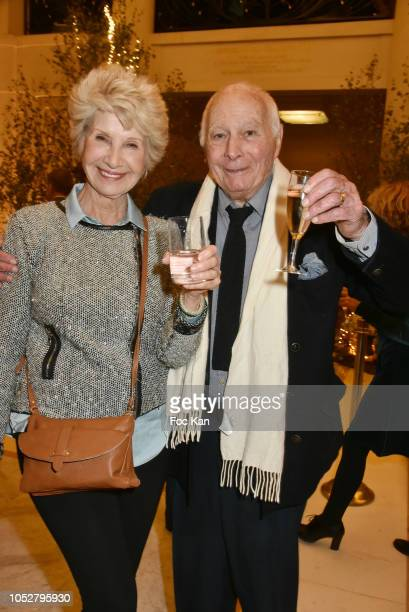Daniele Gilbert and Jacques Collard attend 26th Gala de L'Espoir Ligue contre Le Cancer at Theatre des Champs Elysees on October 22 2018 in Paris...