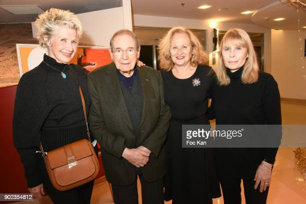 Daniele Gilbert Robert Hossein Katia Tchenko and Candice PatouÊ attend 'Heros en Mer' Patrick and Olivier Poivre d'Arvor Book Signing at Hotel...