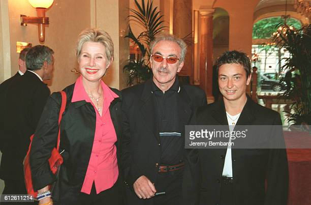 Daniele Gilbert with her husband Patrick Scemama and Sylvie Bourdon