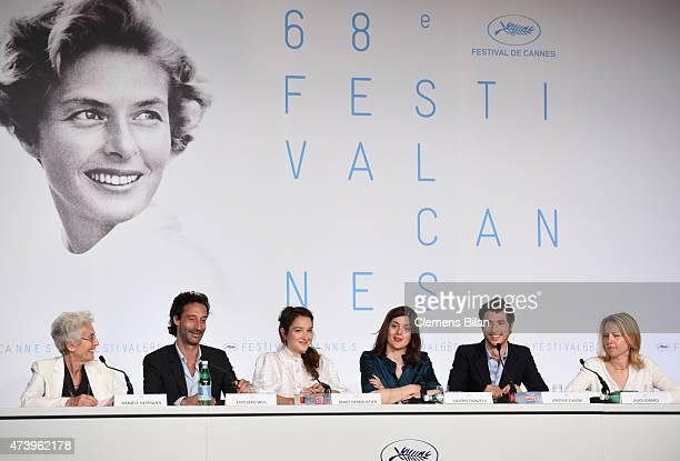 Daniele Heymann Edouard Weil Anais Demoustier Valerie Donzelli Jeremie Elkaim and Alice Girard attend the 'Marguerite And Julien' press conference...