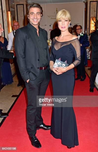 Daniele Liotti and Nancy Brilli attend the Notte Delle Stelle - Premio Bacco At Hotel Maritim During 67th International Film Festival Berlinale on...