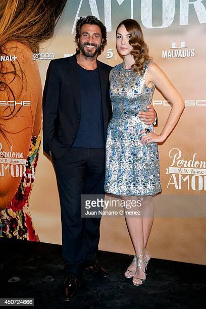 Daniele Liotti and Paloma Bloyd attend 'Perdona Si Te Llamo Amor' premiere at Cines Cinesa Mendez Alvaro on June 16 2014 in Madrid Spain
