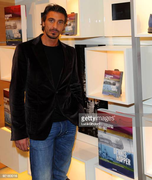 Daniele Liotti attends Dennis Hopper's book launch on October 21 2009 in Rome Italy