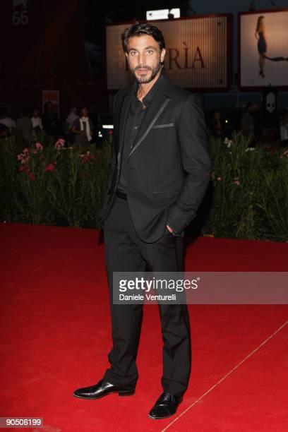 Daniele Liotti attends the Il Grande Sogno Premiere at the Sala Grande during the 66th Venice Film Festival on September 9 2009 in Venice Italy