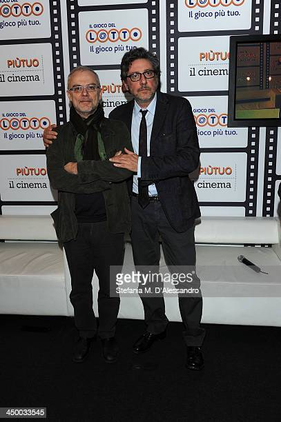 Daniele Luchetti and Sergio Castellitto attends the Casting Awards Ceremony during the 8th Rome Film Festival at the Auditorium Parco Della Musica on...