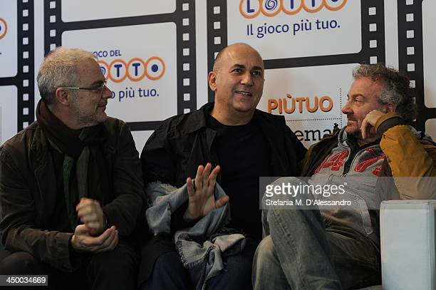 Daniele Luchetti Ferzan Ozpetek and Giovanni Veronesi attend the Casting Awards Ceremony during the 8th Rome Film Festival at the Auditorium Parco...