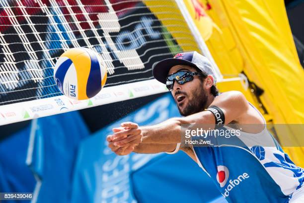Daniele Lupo of Italy in action during Day 4 of the Swatch Beach Volleyball FIVB World Tour Finals Hamburg 2017 on August 26 2017 in Hamburg Germany
