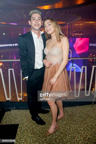 Daniele Negroni and girlfriend Tina Neumann during the Echo Award after show party at Palais am Funkturm on April 12 2018 in Berlin Germany