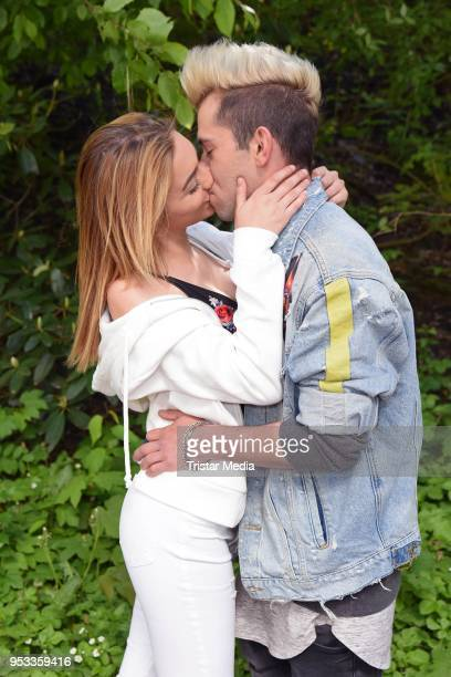 Daniele Negroni and his new girlfriend Tina Neumann during the Bild Race Day on May 1 2018 in Gelsenkirchen Germany