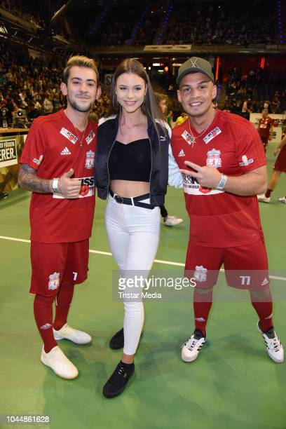 Daniele Negroni Emilia Bartoeck and Pietro Lombardi during the Kiss Cup at MaxSchmeling Hall on October 2 2018 in Berlin Germany